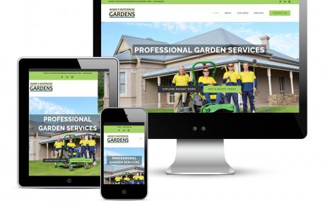 Mark's Waterwise Gardens Website Design