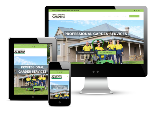 Mark's Waterwise Gardens Website Design